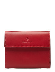 G1. SMALL LEATHER WALLET - BRIGHT RED
