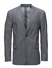 G1. STRETCH LINEN BLAZER S - GREY MELANGE