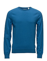 G. COTTON CASHMERE CREW - DEEP WATER BLUE