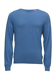 G. COTTON CASHMERE CREW - DELFT BLUE