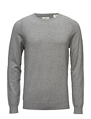 G. COTTON CASHMERE CREW - LIGHT GREY MELANGE
