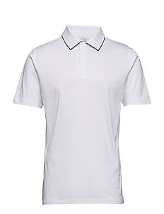 G. CONTRAST TIPPING POLO - WHITE