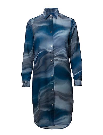 G. PRINTED DRESS - DEEP WATER BLUE