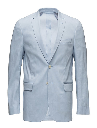 G1. STRETCH LINEN BLAZER S - POLAR BLUE