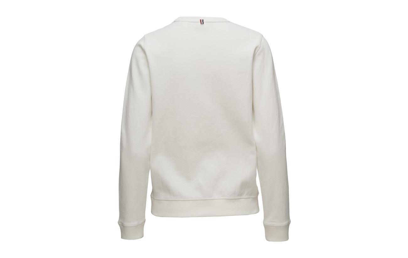 Elastane C Sweat Polyester 4 Coton White Mans 74 neck Gant Lm 22 Le gwZqZPR
