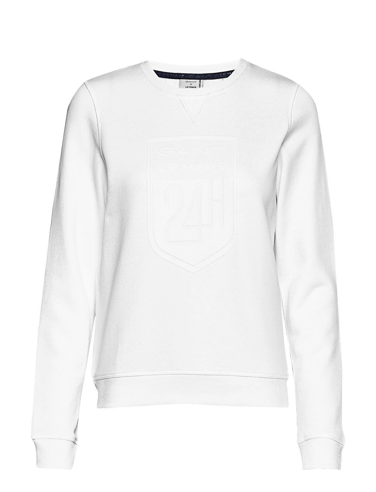 GANT LM. LM C-NECK SWEAT - WHITE