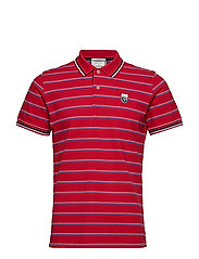 LM. STRIPE PIQUE SS RUGGER - RED