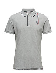 LM. BADGE PIQUE SS RUGGER - LIGHT GREY MELANGE
