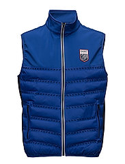 LM. PANEL QUILTED VEST - YALE BLUE