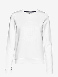 LM. LM C-NECK SWEAT - WHITE