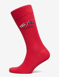 LM. LE MANS SOCKS - RED