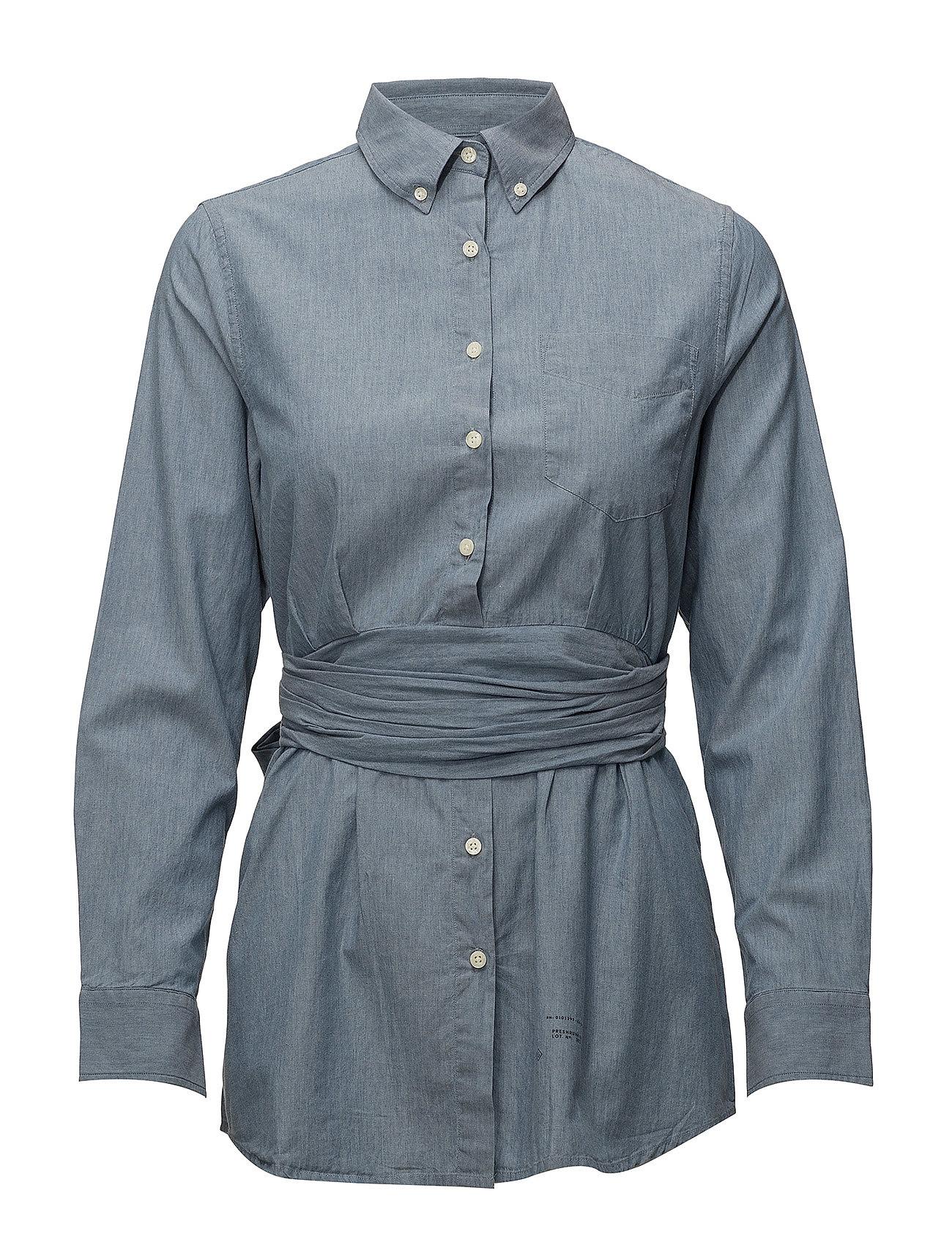 l €Gant Shirt e Indigo97 49 Chambray Bdlt R1Ind Smil QBeWCordx