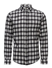 R2. DOWNTOWN TWILL FLANNEL SLIM BD - BLACK