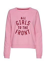 R1. GRAPHIC GIRLS SWEAT - PINK EMBRACE