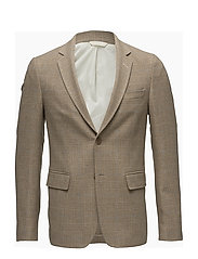 R. THE DOGTOOTH WOOL BLAZER - DARK SAND