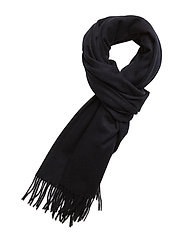 R1. BIG WOOL SCARF - NAVY