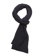 R1. RIBBED SCARF - NAVY