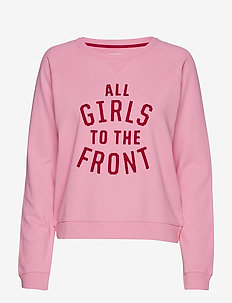 R1. GRAPHIC GIRLS SWEAT - PINK EMBRACE