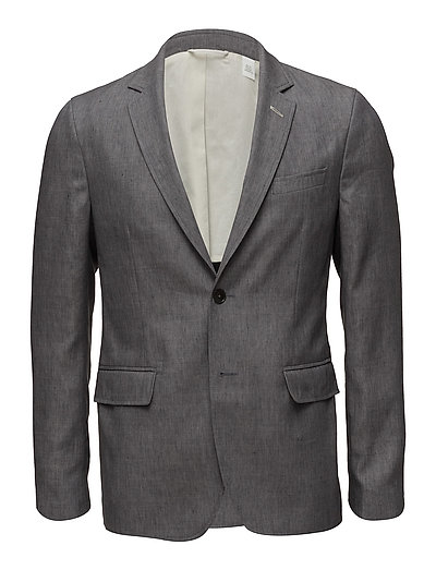 R1. THE LINEN BLAZER - GREY MELANGE