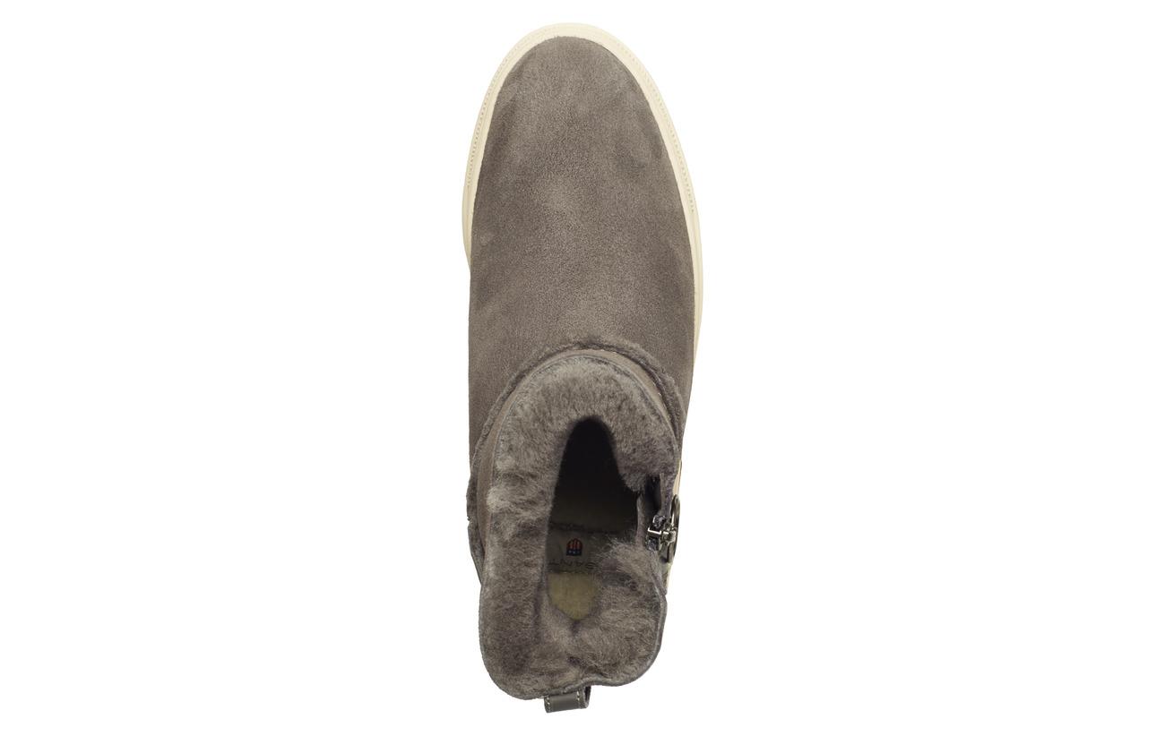 Mid Supérieure Maria Daim Extérieure Semelle Boot Caoutchouc Doublure Black Empeigne Fur Gant wF5q4xC4