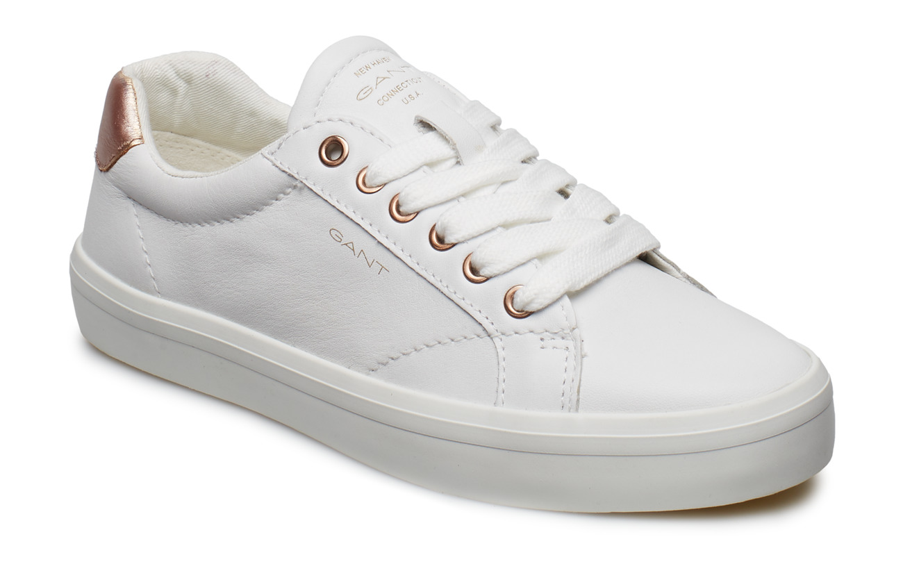 2911125d8a8b54 Baltimore Low Lace Shoes (Bright Wht. rose Gold) (£100) - GANT ...