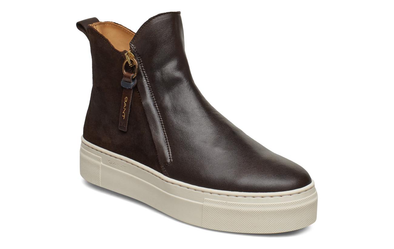 GANT Marie Mid Zip boot - DARK BROWN