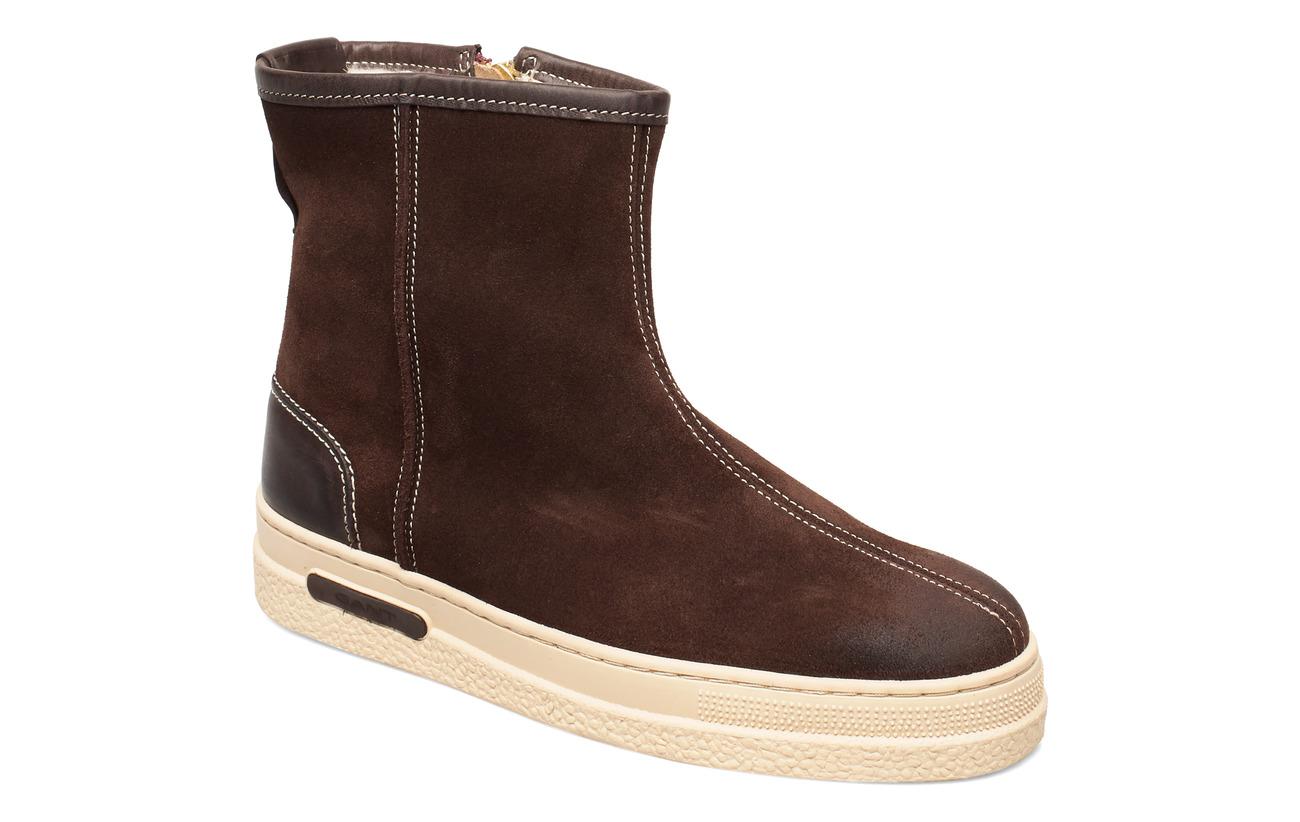 GANT Maria Mid Zip boot - DARK BROWN
