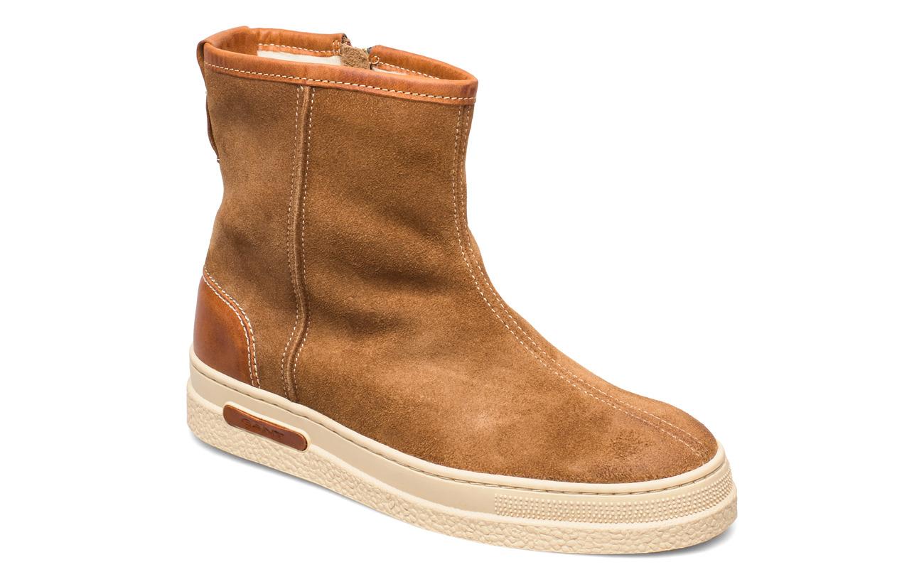 GANT Maria Mid Zip boot - WARM KHAKI