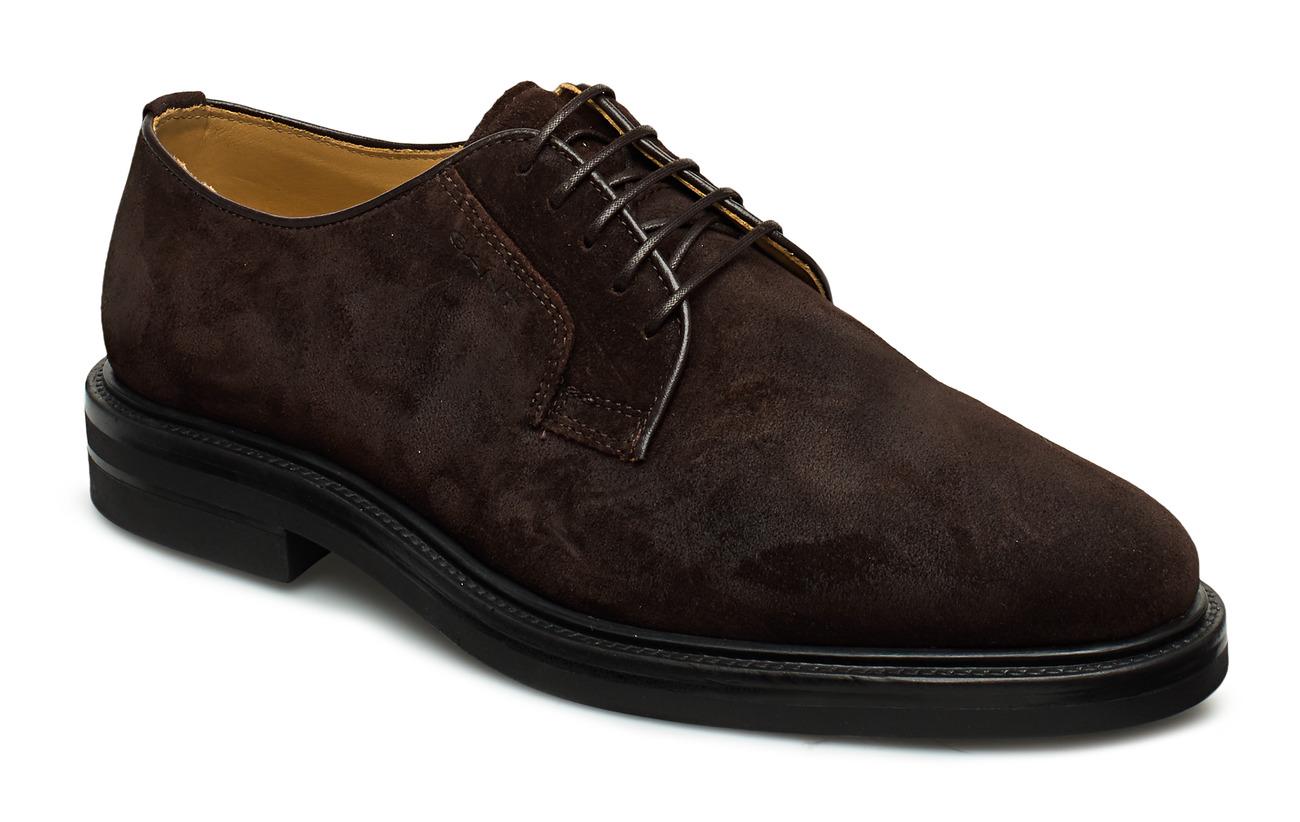 GANT Fargo Low lace shoes - DARK BROWN