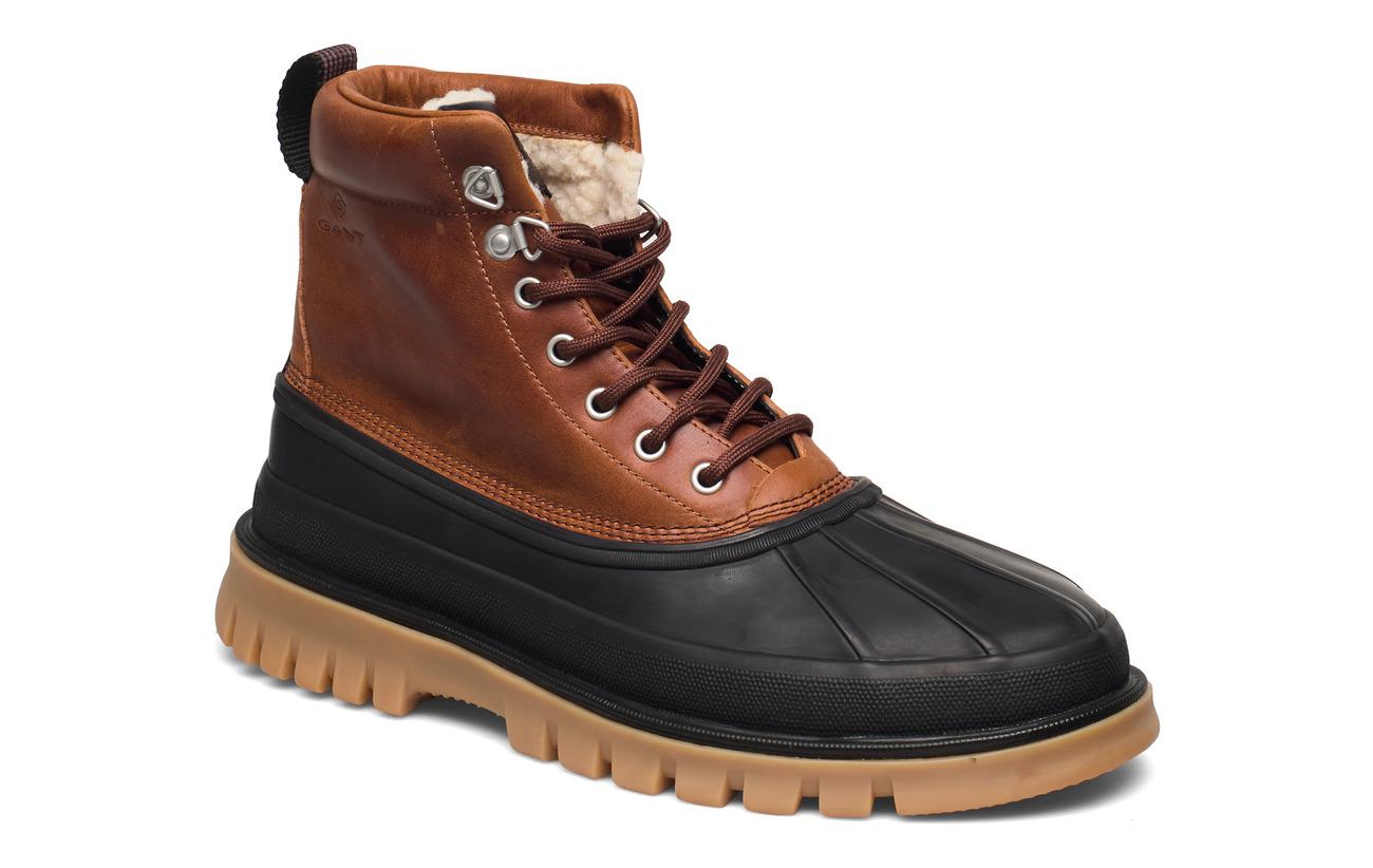 GANT Colorado Mid lace boot - BLACK/COGNAC
