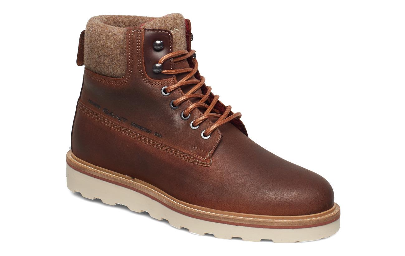 GANT Don  Mid lace boot - COGNAC