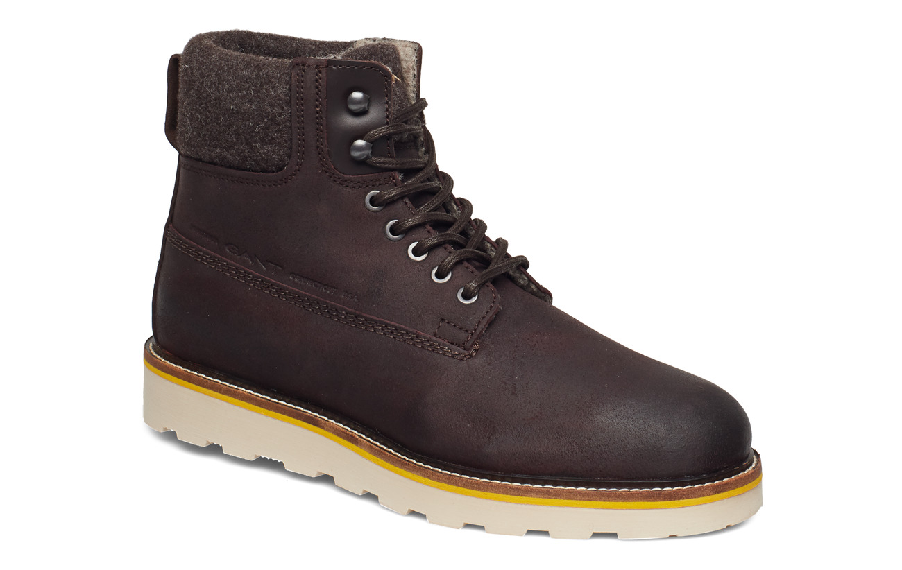 GANT Don  Mid lace boot - DARK BROWN