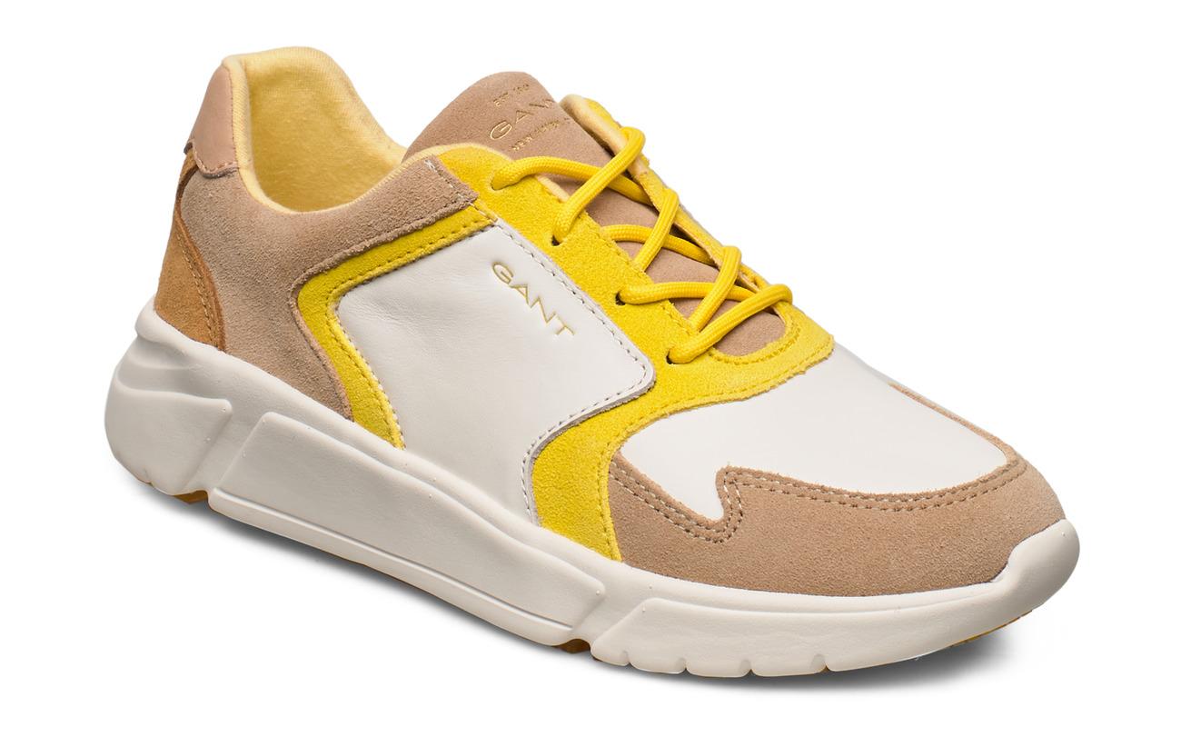 GANT Cocoville Sneaker - BR.WHT./BEIGE/YELLOW