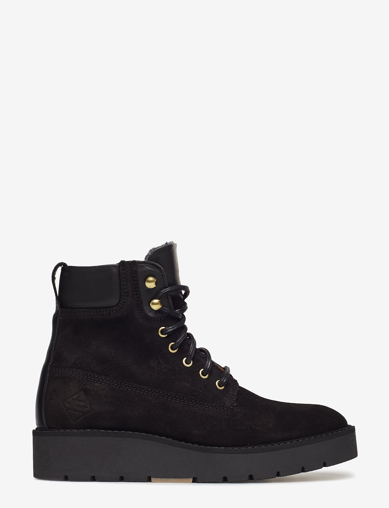 GANT - Casey Mid lace boot - flat ankle boots - black