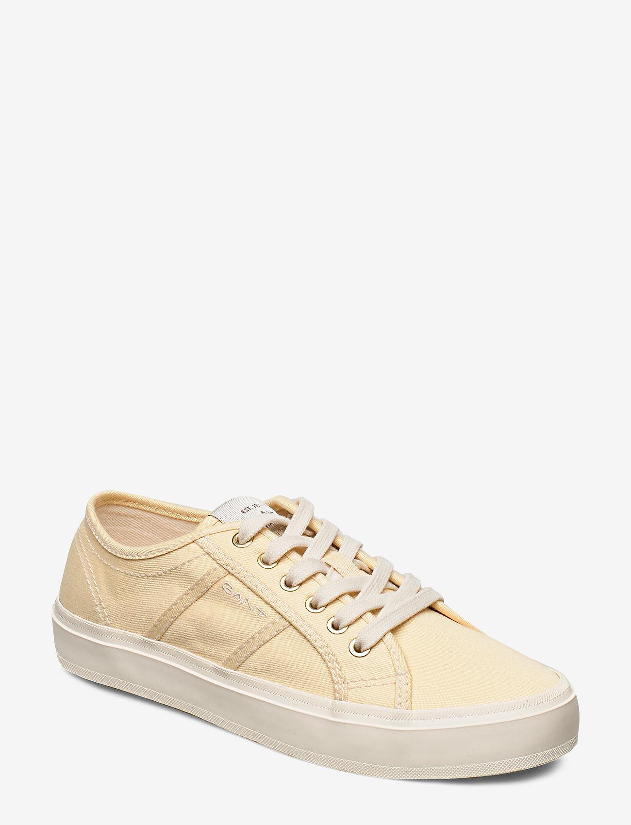 GANT - Pinestreet Low laceshoes - låga sneakers - light yellow