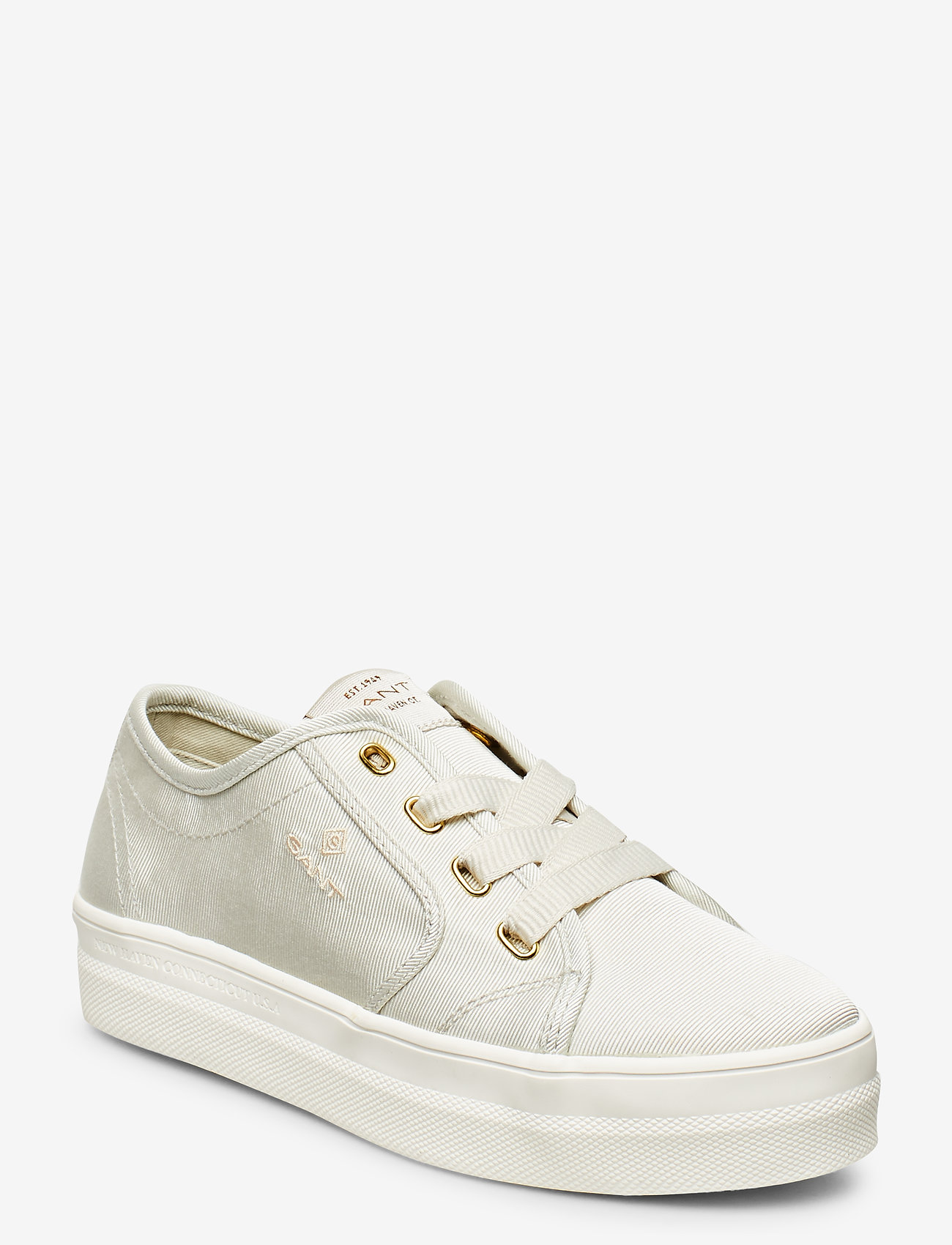 GANT - Leisha Low lace shoes - låga sneakers - silver gray
