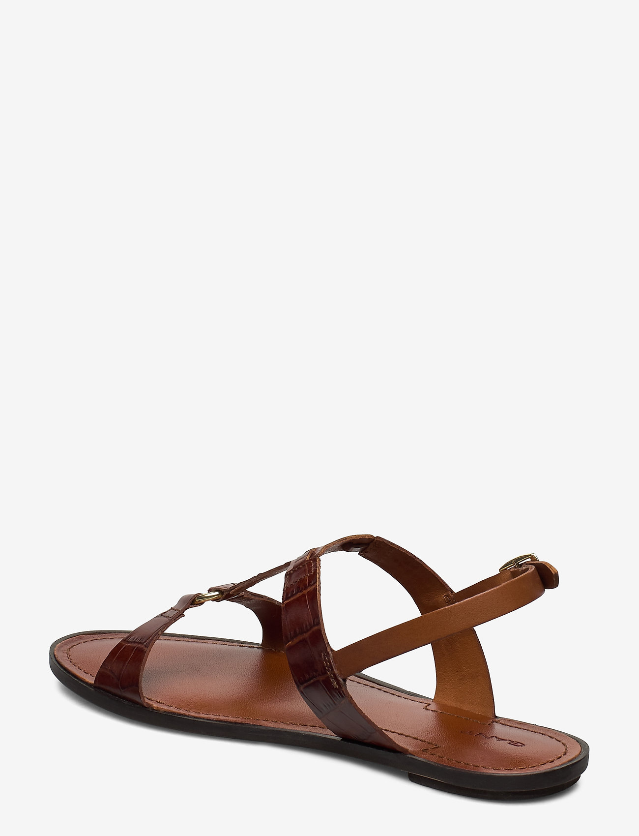 Beechum Sandal (Cognac Crocco Optic) (629.30 kr) - GANT