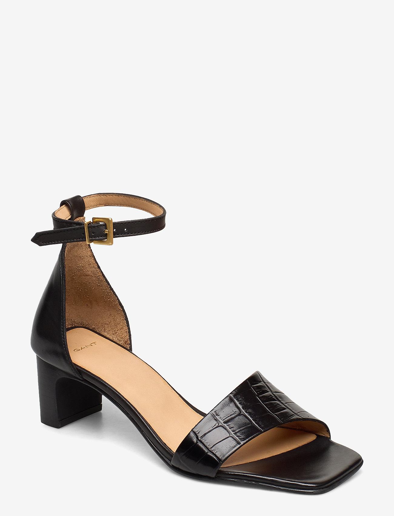 GANT - Alabasta Sandal - høyhælte sandaler - black