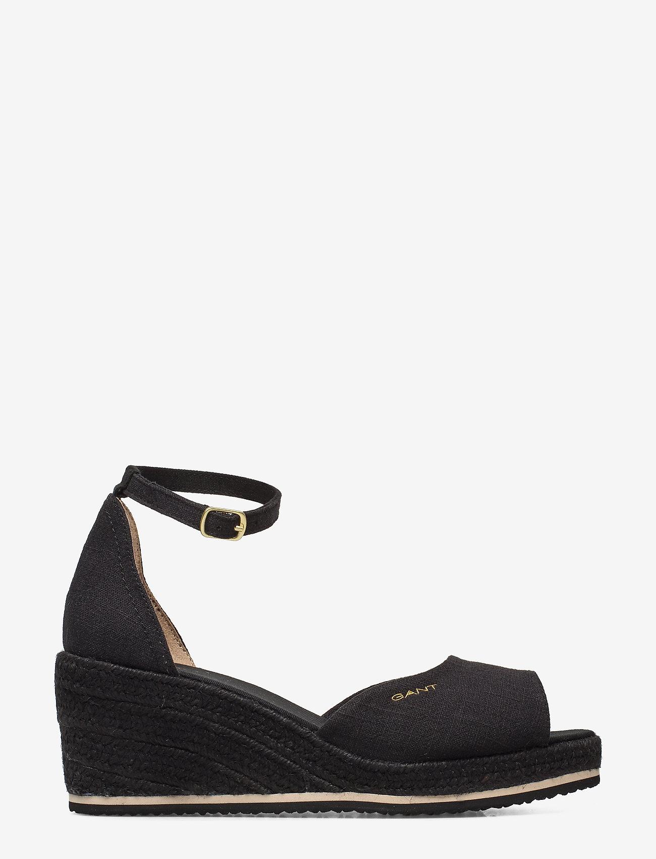 GANT - Wedgeville Plateau Sandal - heeled espadrilles - black - 1