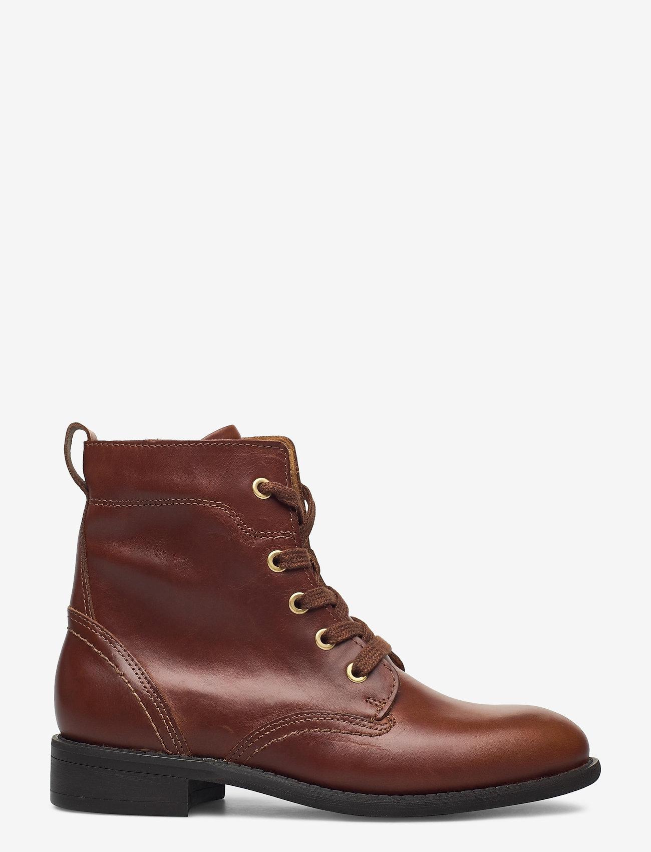 GANT - Ainsley Mid lace boot - platte enkellaarsjes - cognac - 1