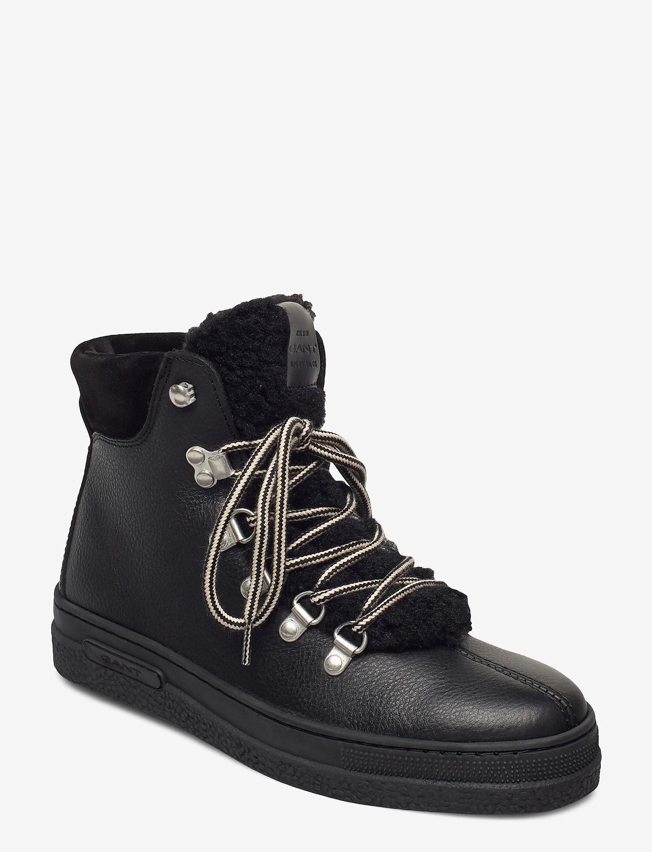 GANT - Breonna Mid lace boot - flade ankelstøvler - black - 0