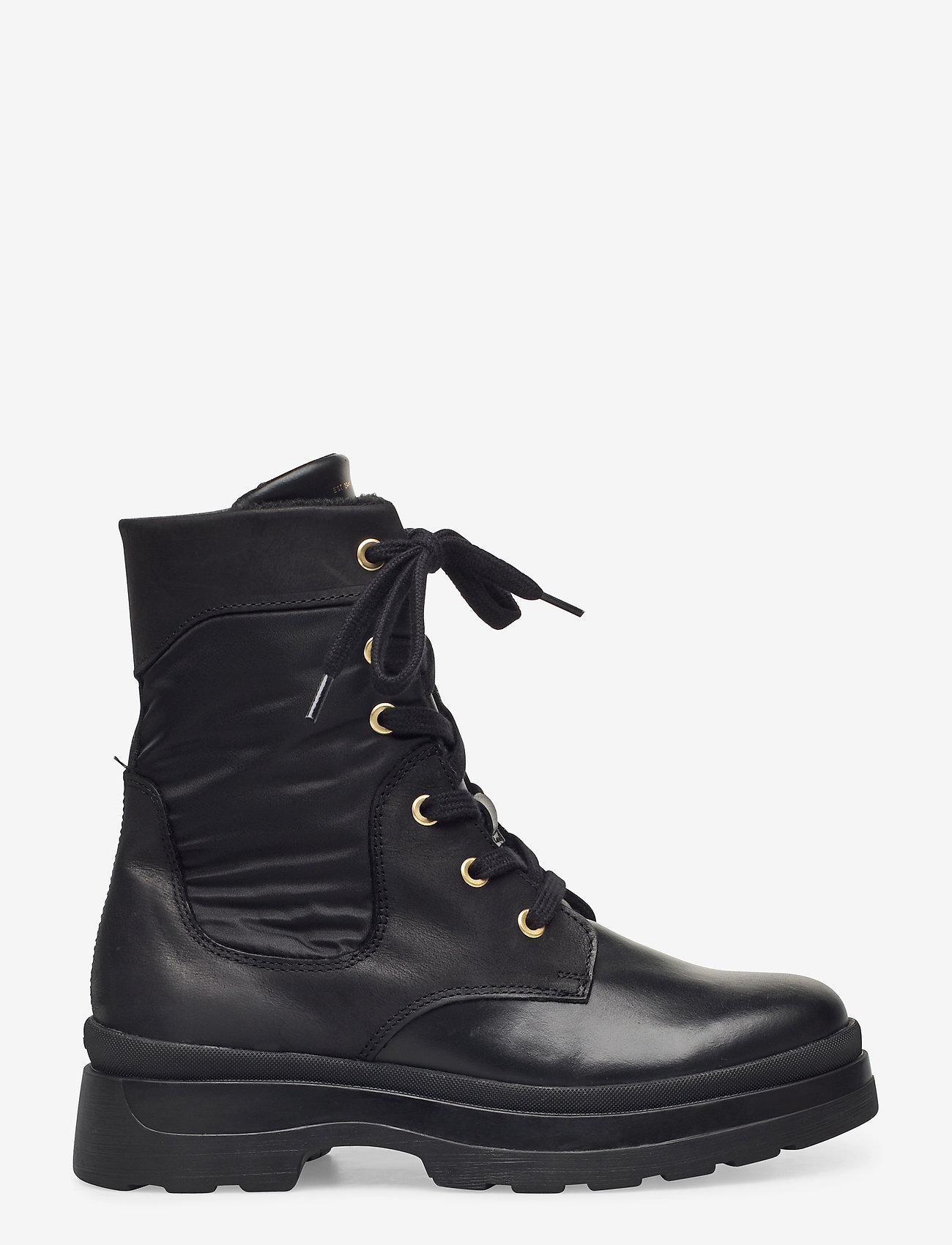 GANT - Windpeak Mid lace boot - platta ankelboots - black - 1