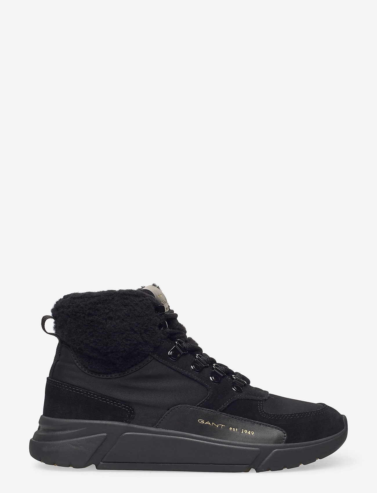 GANT - Cocoville Mid lace boot - flade ankelstøvler - black - 1