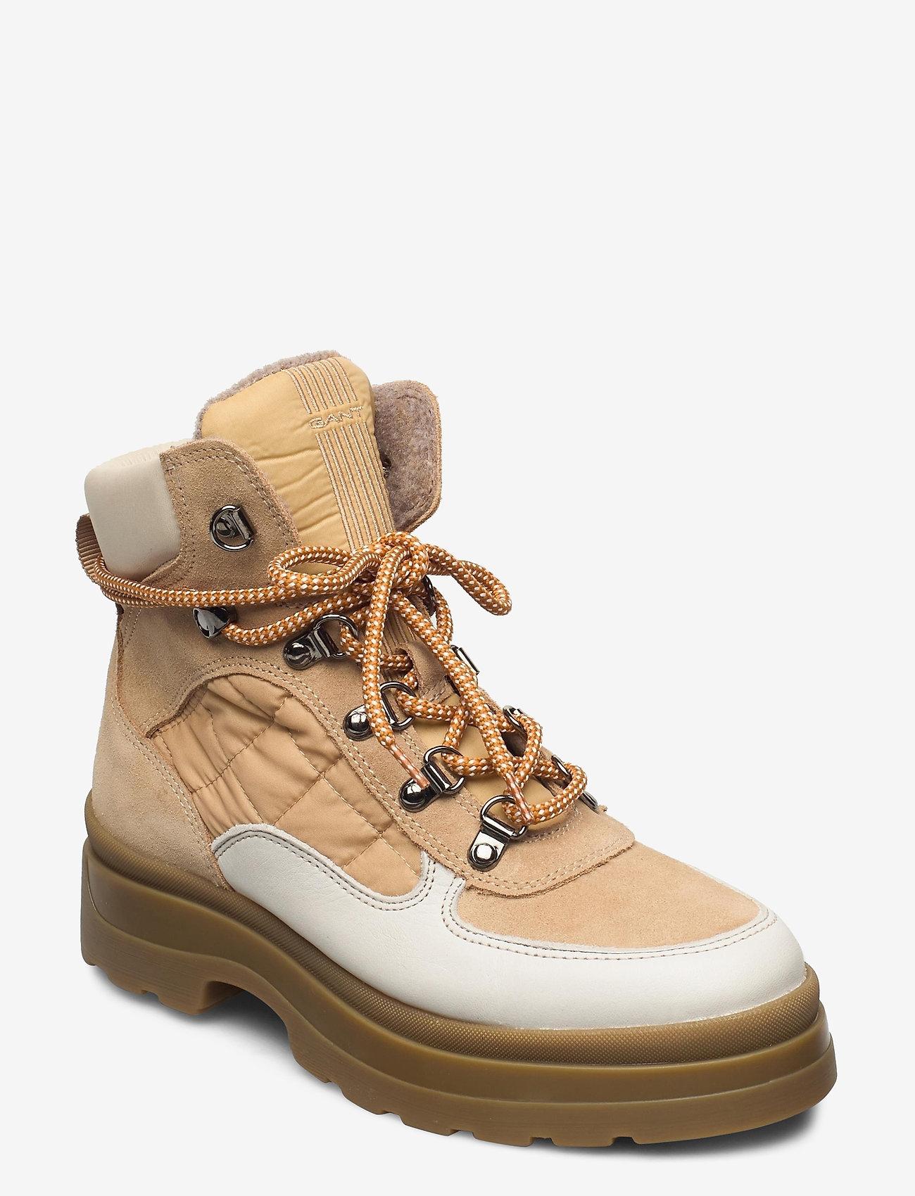 GANT - Windpeak Mid lace boot - laced shoes - multi beige - 0
