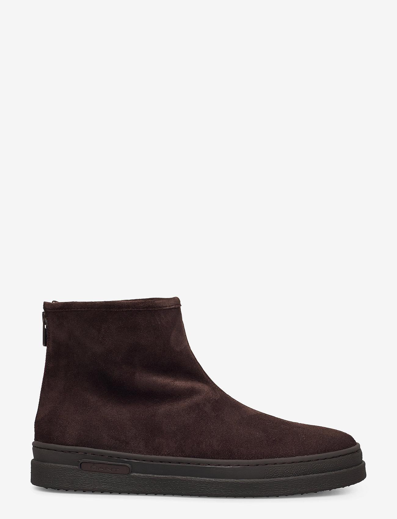 GANT - Cloyd Mid Zip boot - winter boots - dark brown - 1
