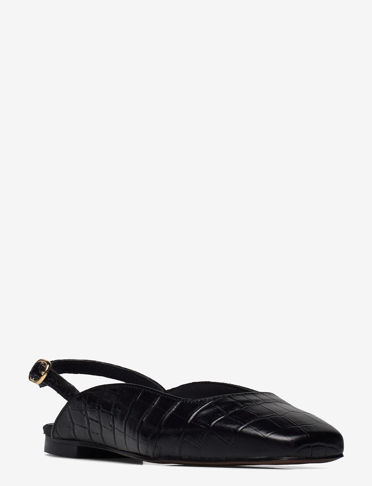 GANT - Bellyn Sandal - ballerinas - blk croco optic - 1