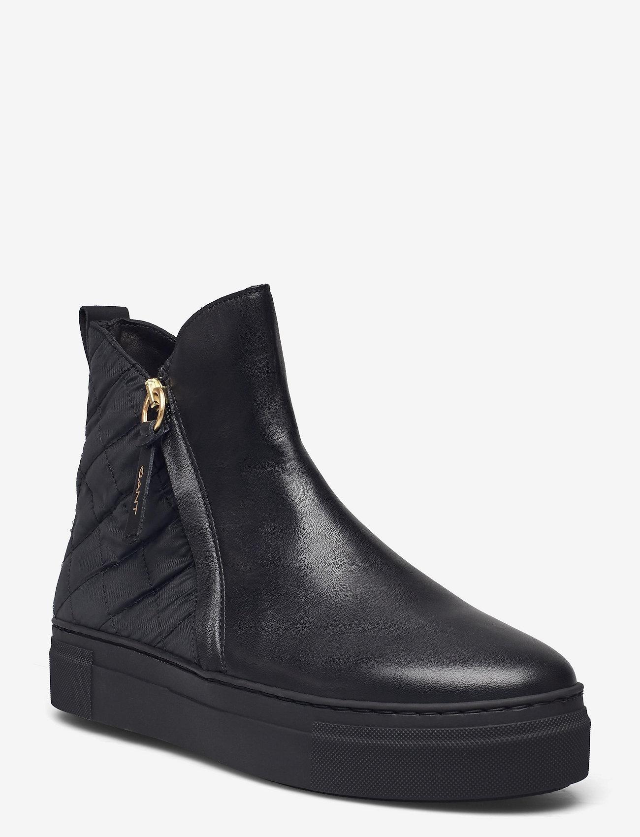 GANT - Vanna Mid Zip boot - flat ankle boots - black - 0