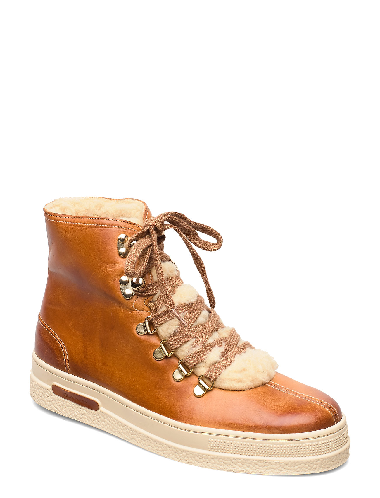 Image of Maria Mid Lace Boot Shoes Boots Ankle Boots Ankle Boots Flat Heel Brun GANT (3237675631)