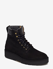 GANT - Casey Mid lace boot - flat ankle boots - black - 0
