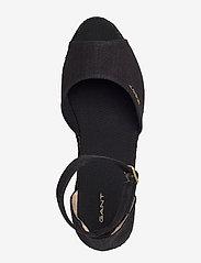 GANT - Wedgeville Plateau Sandal - heeled espadrilles - black - 3